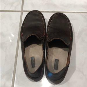 Olukai brown leather shoes
